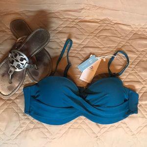 NWT Beautiful Teal Bikini Top  👙